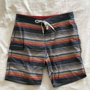 Goodfellow Striped Board Shorts